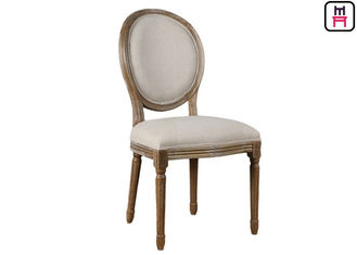 China Vintage Round Back Wedding Fabric Lether Wood Restaurant Chairs factory