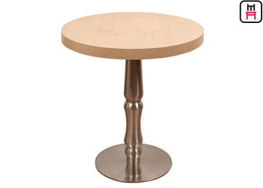 China Melamine Contemporary Coffee Tables , 2ft Round Coffee Tables Casting Iron Base factory