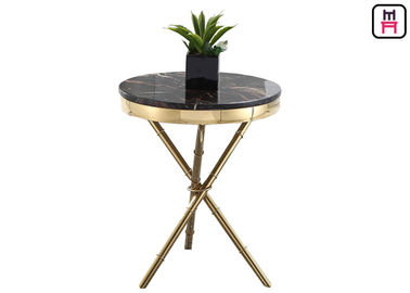 China Crossed Triangle Base Coffee Table Round Modern , High End Coffee Tables Living Room  factory