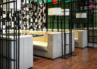 China Square Pattern Hotel Fast Food Restaurant Seating , Custom Restaurant Booths U Shaped factory