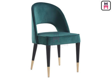 China Velvet Bowed Wood Restaurant Chairs supplier