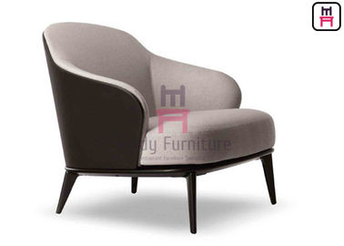 China Comfortable Black Leather Armchair 79 * 86 * 80cm Size For Office /  Lobbies supplier