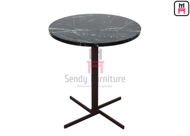 China Crossed X SS Base Luxury Coffee Tables With Round & Square Shape D45cm / 60cm factory