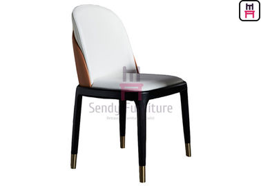 China Modern Ash Wood Restaurant Chairs H87cm Dual Color Backrest With Solid Frame factory