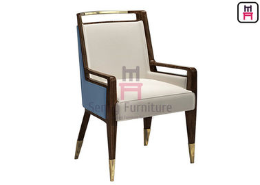 Solid Wood Upholstered Velvet Single Sofa Chair No Folded For Hotel Lobby