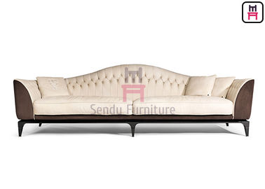 Magnificent Ruthenium Plated Restaurant Sofa Set Leather Couch For Hotel Lobby