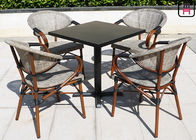 Backyard Patio Furniture Round / Square Outdoor Dining Table With Textoline Garden Chairs