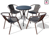 China Square/ Round Outdoor Restaurant Tables Carbon Steel Weatherproof Patio Furniture  factory