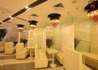 China Modern Style Fast Food Restaurant Booth Seating Stainless Steel Base / Plain Leather factory