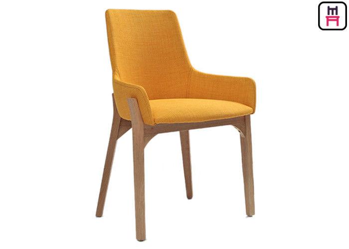 Modern Minimalist Wood Restaurant Chairs Nordic Fabric Seats W43 * D41 *  H80cm
