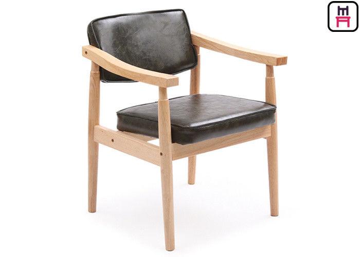 Comfortable Oak Solid Wood Restaurant Chairs Scandinavian Design ...