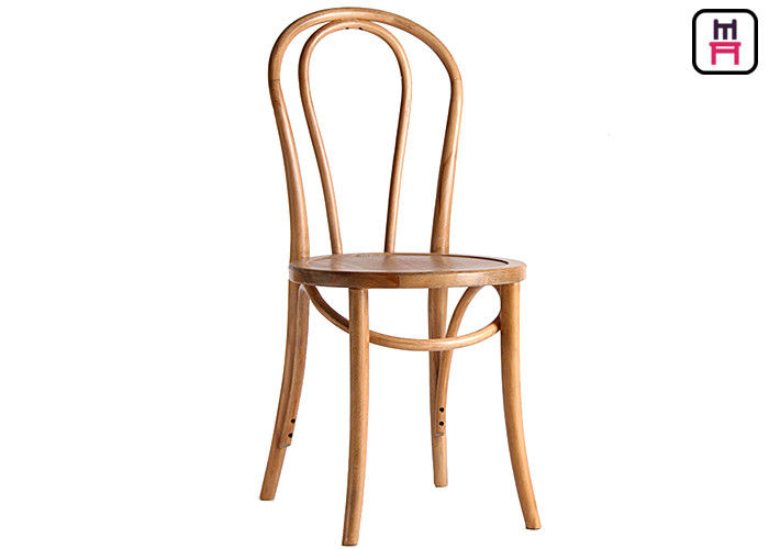Rustic Style Vienna Walnut Bentwood Cafe Chairs For Hotel / Office / Home