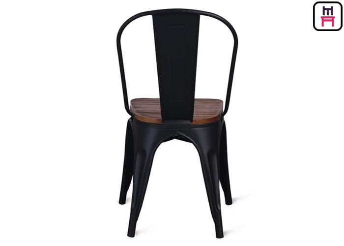 86cm Height Black Metal Restaurant Chairs Tolix Bar Stool With