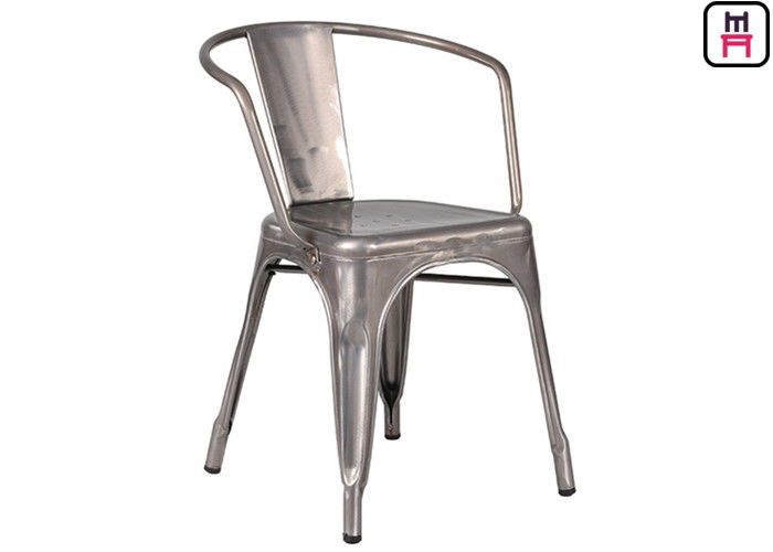 Steel Tolix Armchair Metal Pub Chairs , Replica Tolix Dining Chair 76cm  Height