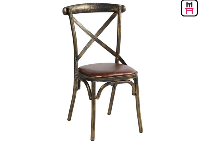 wood like x back stylish metal restaurant chairs with brown leather