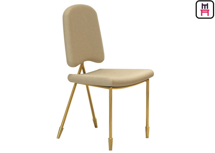 Nordic Velvet Dancing Chair Stainless Steel Restaurant Chairs With Arrowhead Gold Leg supplier