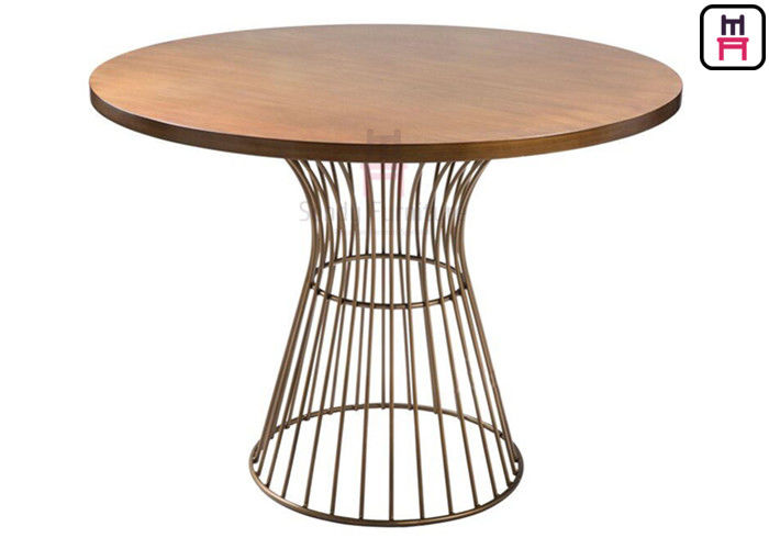 Commercial Metal Table Bases For Wood Tops Round Dining Table