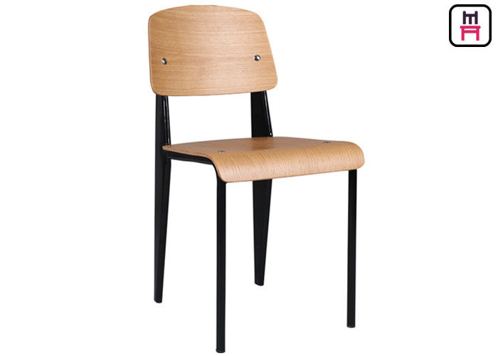 Nordic Minimalism Metal Restaurant Chairs Leather Wood