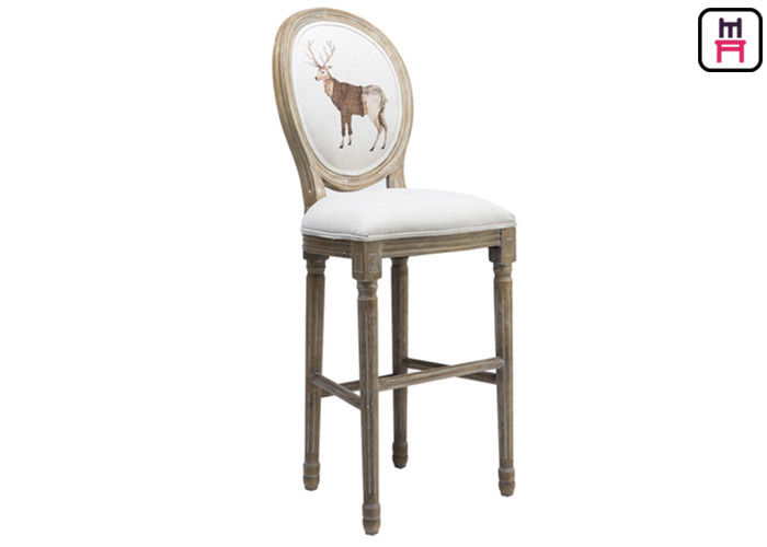 Fantastic Classical Royal Round Back Bar Stool Fabric Lether Solid Dailytribune Chair Design For Home Dailytribuneorg