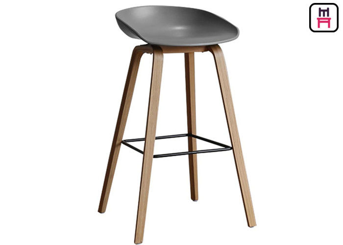 Nodic Egg Chair Plastic Counter Stools , Egg Bar Stool Modern PP Wood Frame