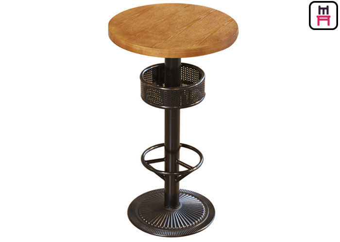 Bar Height Table With Storage , 24'' Diameter Round / Square Plywood Bar Table  supplier