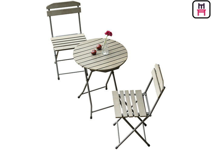 Plastic Wood Folding Patio Dining Table And Chairs All