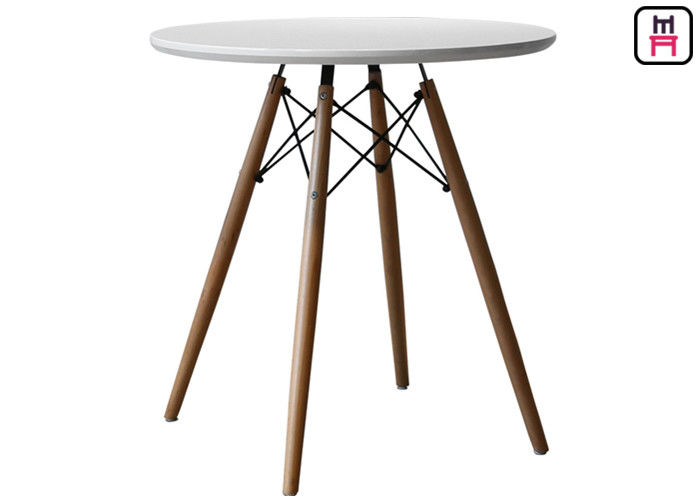 Round Eames Molded Plywood Coffee Table , MDF Dining Table Top Beech Wood