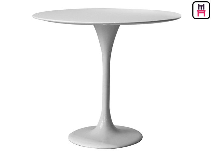 Glass FRP / Marble Commercial Restaurant Tables Luxury Round Shape Tulip Table Base