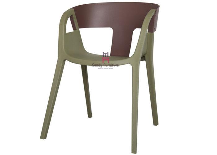 T Back Armrest Plastic Restaurant Chairs Commercial Indoor Outdoor Furniture
