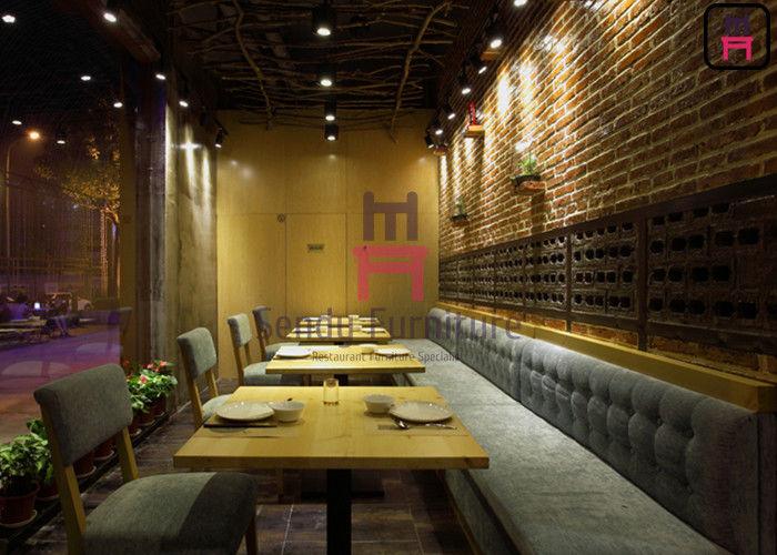 Fast Food Wood Restaurant Sofa Set