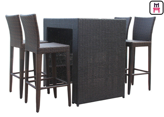 Counter Height Patio Set Outdoor Restaurant Tables With Waterproof Patio Bar Chairs