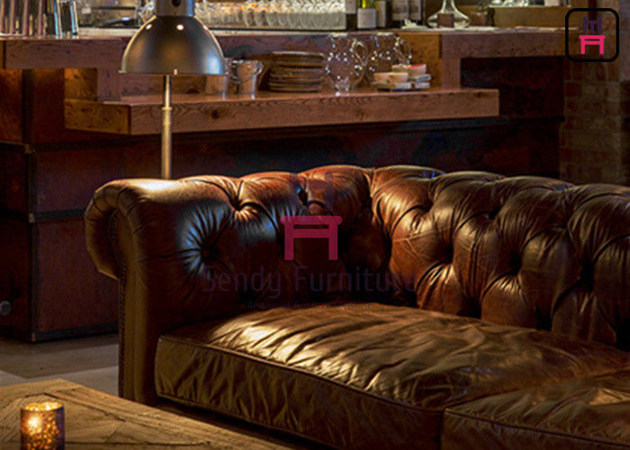Leather Fabric Hotel Restaurant Bar Stools Chesterfield Sofa