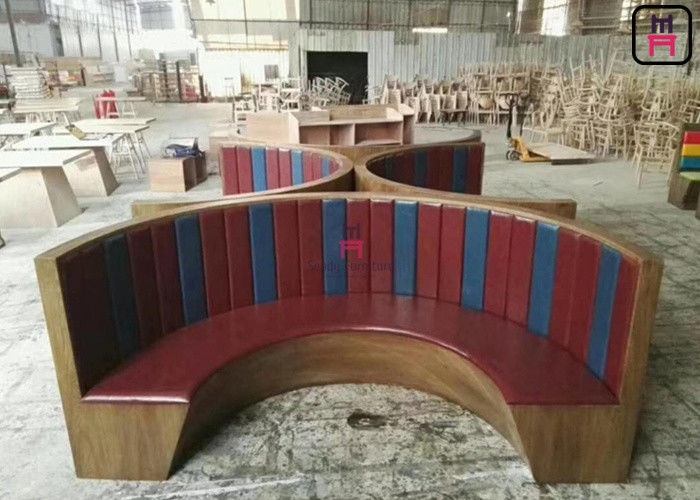 Incredible 1 2 Circle Wood Chigh Back Restaurant Booths Custom Made 3 Gmtry Best Dining Table And Chair Ideas Images Gmtryco