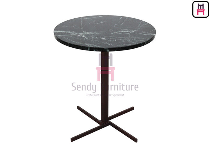 Crossed X SS Base Luxury Coffee Tables With Round & Square Shape D45cm / 60cm