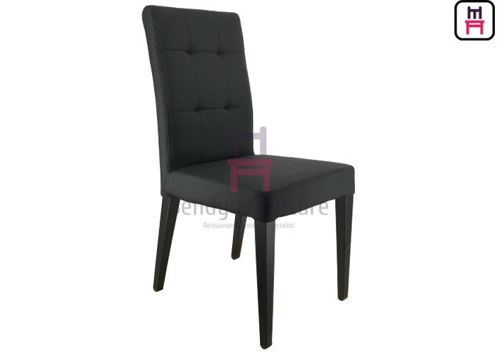 Urban-Style Metal Frame Black Leatherette Padded Parson Chair / For Wedding & Event