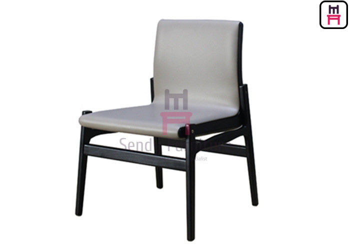 Indoor Upholstered Restaurant Chairs , Wood And Upholstered Dining Chairs Durable supplier