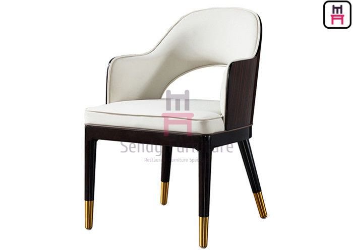 Indoor Open Back Upholstered Restaurant Chairs with Maple Veneer Backrest supplier