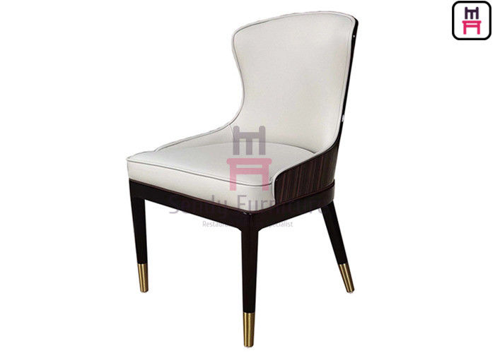 Hotel Restaurant Chairs with High Glossy Backrest Comfortably Upholstered Seatback No Foldable