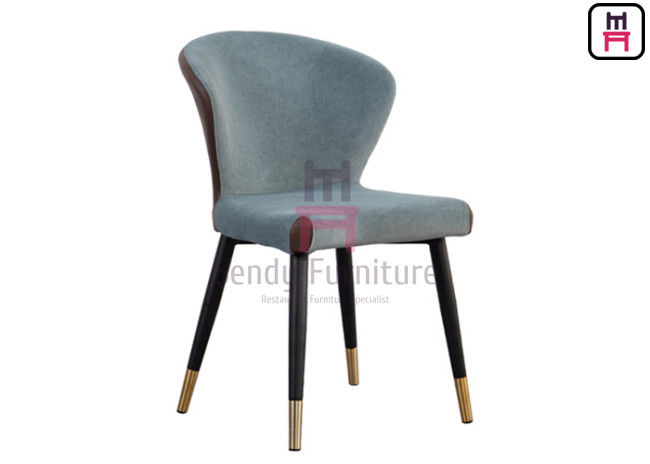 0.38cbm Bowed Backrest Metal Restaurant Chair PU Leather