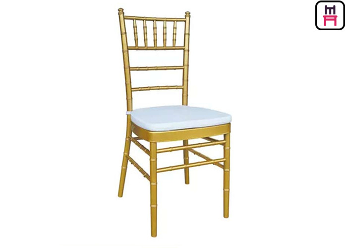 Resin Chiavari Chairs Metal Wedding Banquet Chairs 7 Bars Gold / White / Silver Color  sc 1 st  Quality Wood Restaurant Chairs u0026 Metal Restaurant Chairs Manufacturer & Resin Chiavari Chairs Metal Wedding Banquet Chairs 7 Bars Gold ...