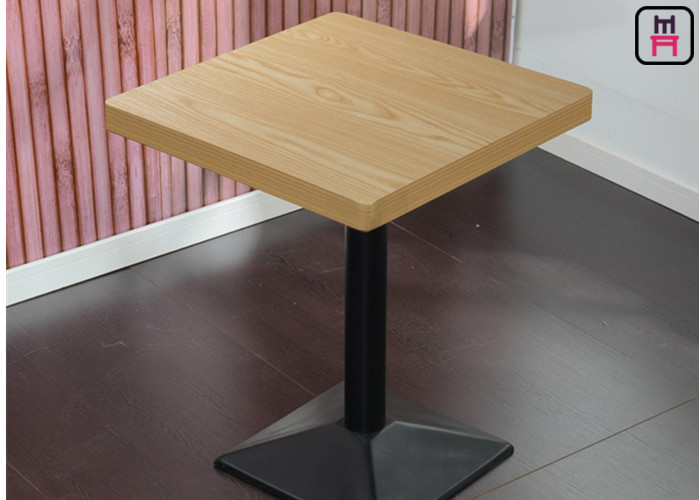 Melamine Faced Chipboard Tables Used For Restaurant , Oak Wood Painting  Commercial Dining Table