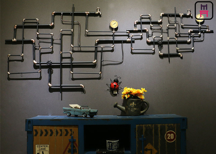 Retro Style Tube Vintage Industrial Wall Decor Conduit / Ap Croosed ...