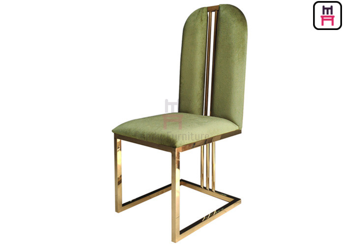 Rose Golden High Back Dining Chairs Velvet Seat W48 * D42 ...