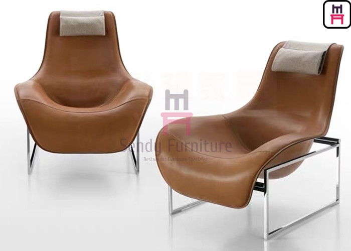 Frame Leather Lounge Fiberglass Dining Chair Revolving ...