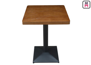 Melamine-faced chipboard tables used for restaurant , oak wood painting commercial dining table