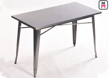 Industrial Style Metal Commercial Restaurant Tables Matched Tolix Style  Chair