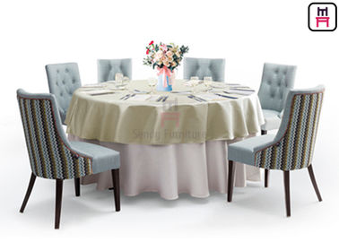 Classical Fabric Standard Banquet Chairs Steel Frame And  Curved Arm For Weddings