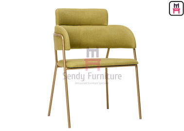 Customized Stainless Steel Restaurant Chairs , Gold Rose Stainless Steel Dining Chairs