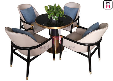 Modern Hotel Restaurant Chairs , Matte Varnish Dining Room Chairs With Arms
