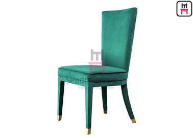 High Back Green Velvet Fully Upholstered Comfortable Hotel Restaurant Chairs